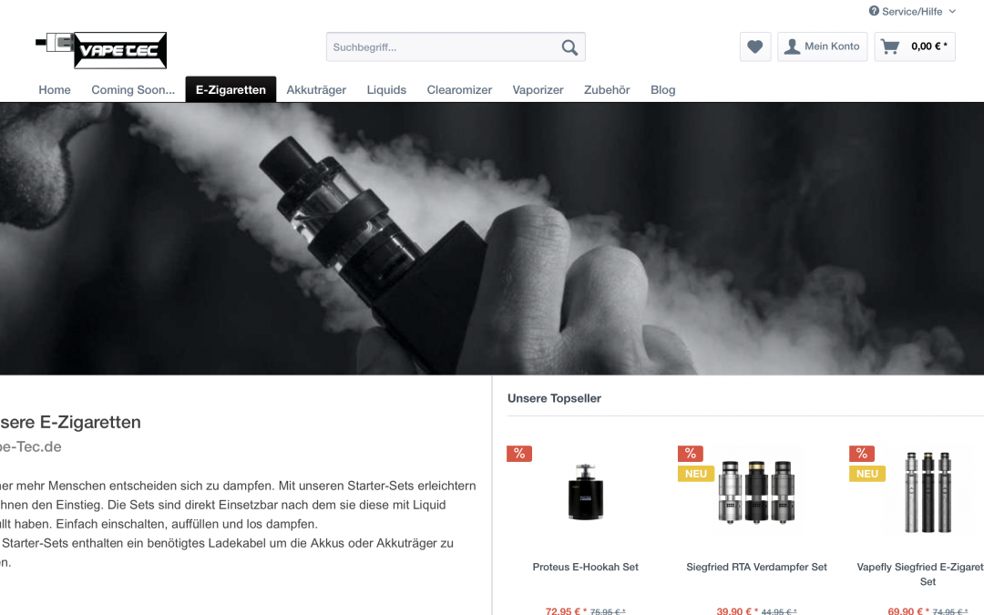 E-Zigaretten Webshops – Altersprüfung 18+ – aber wie?